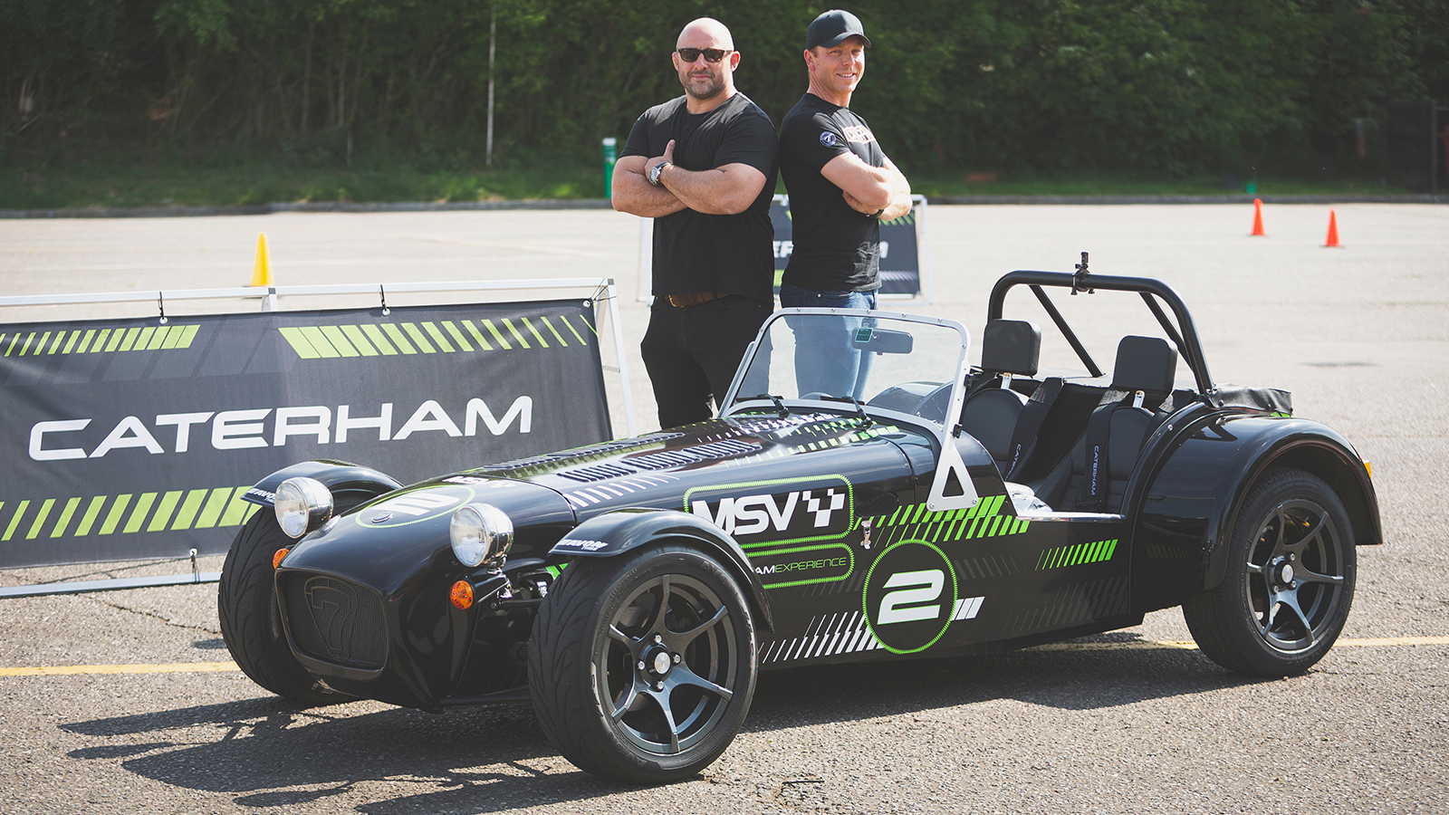 Hoy vs Flats: Sporting Stars Go Head-To-Head at the Caterham Drive Experience