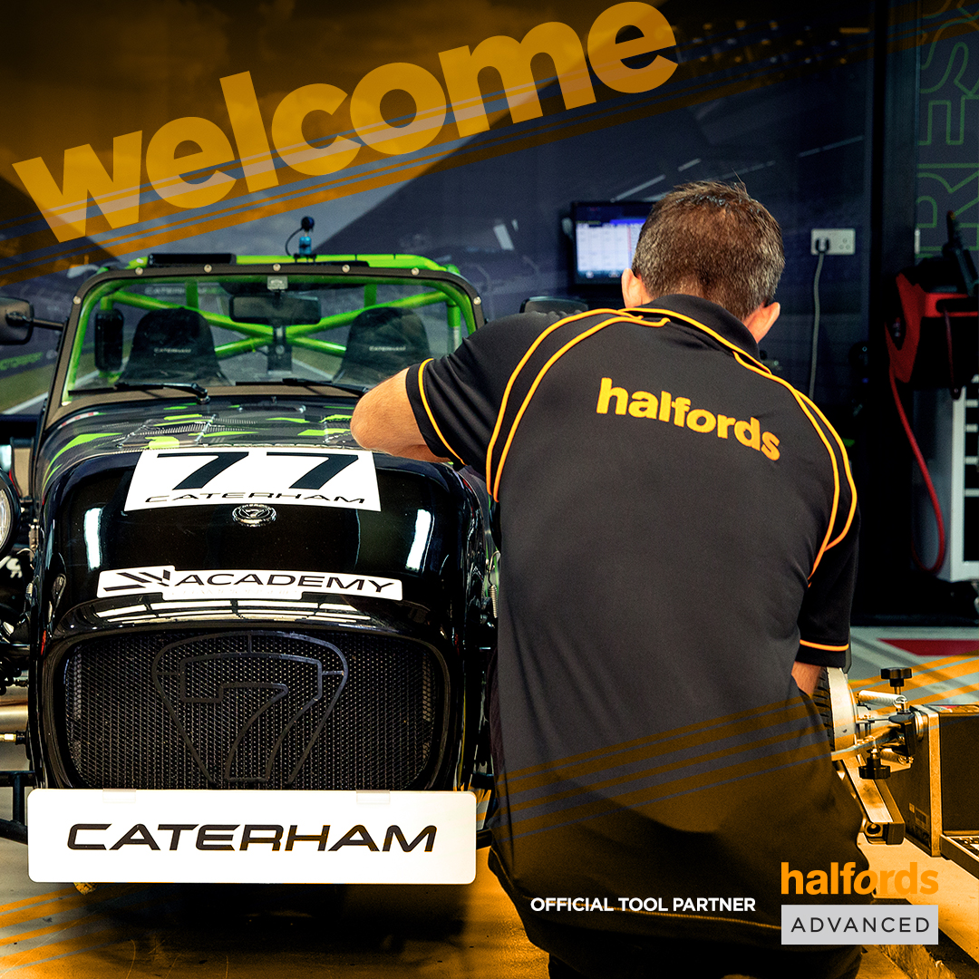 HALFORDS ANNOUCED AS CATERHAM OFFICIAL TOOL PARTNER